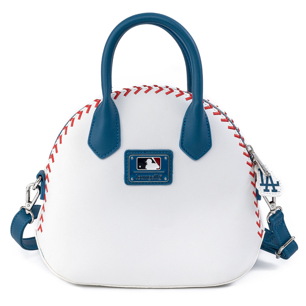 Loungefly X MLB LA Dodgers Baseball Stitch Dome Cross Body Bag-zoom