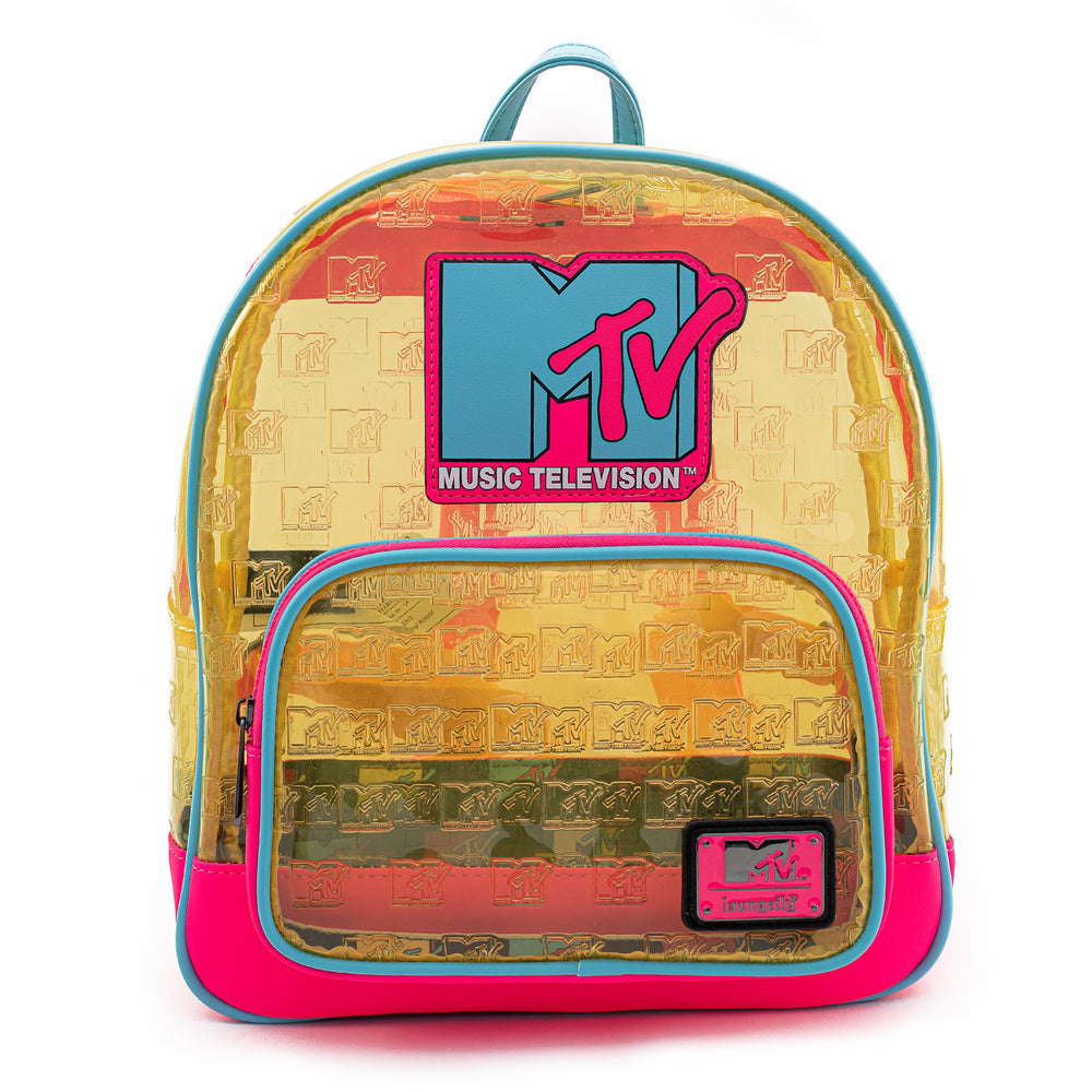 Loungefly X MTV Clear Debossed Logo Mini Backpack-zoom