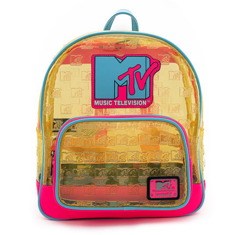 Loungefly X MTV Clear Debossed Logo Mini Backpack