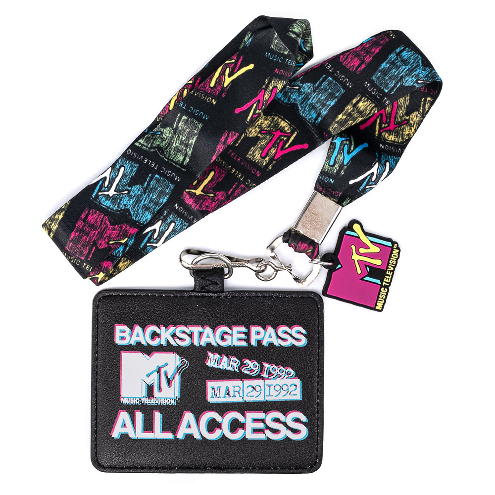 MTV All Access Lanyard with Cardholder-zoom