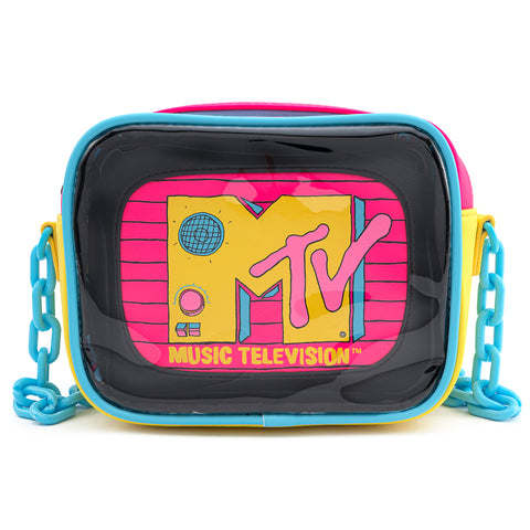 MTV 2pc Clear Cross Body Bag with Interior Pouch