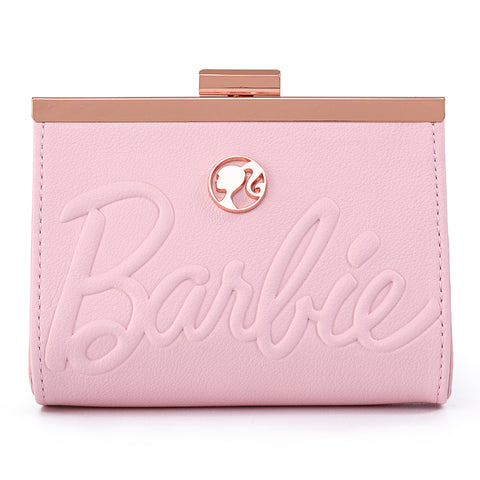 Loungefly X Barbie™ Logo Rose Gold Kisslock Wallet