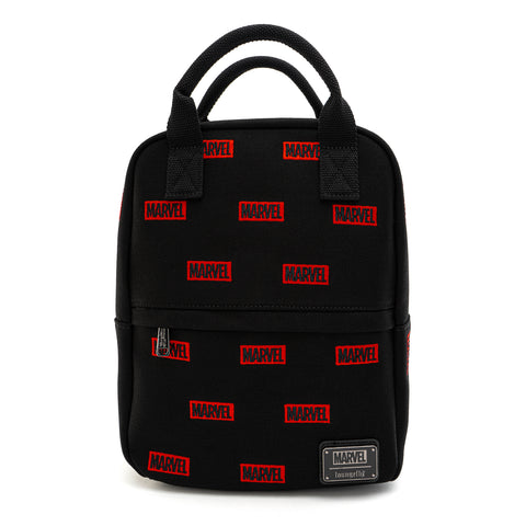 Loungefly X Marvel Embroidered Logo AOP Canvas Mini Backpack