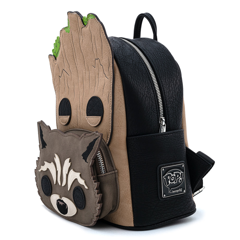 Pop by Loungefly Marvel GOTG Groot and Rocket Cosplay Mini Backpack-zoom
