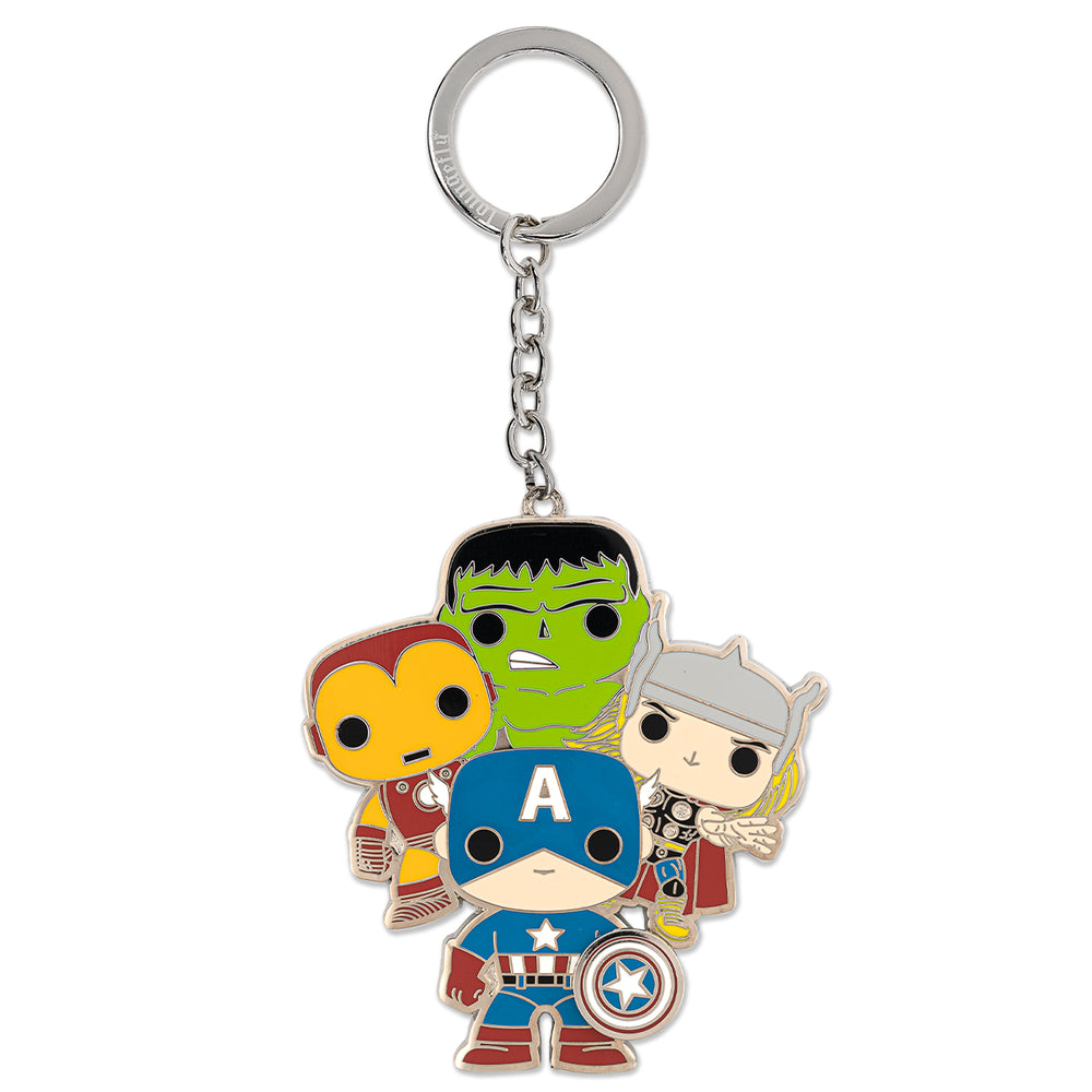Funko Pop! by Loungefly Avengers Group Enamel Keychain-zoom