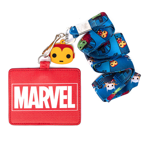 Funko Pop! by Loungefly Marvel Lanyard with Cardholder