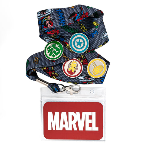 Marvel The Crew Lanyard with Cardholder & 4 Enamel Pins