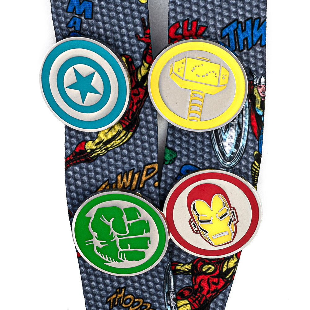 Marvel The Crew Lanyard with Cardholder & 4 Enamel Pins-zoom