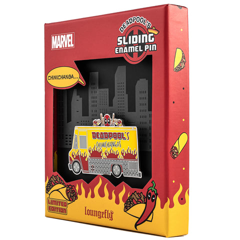 "Marvel Deadpools' Chimichangas Truck LE 1000 3"" Collector Box Enamel Pin"