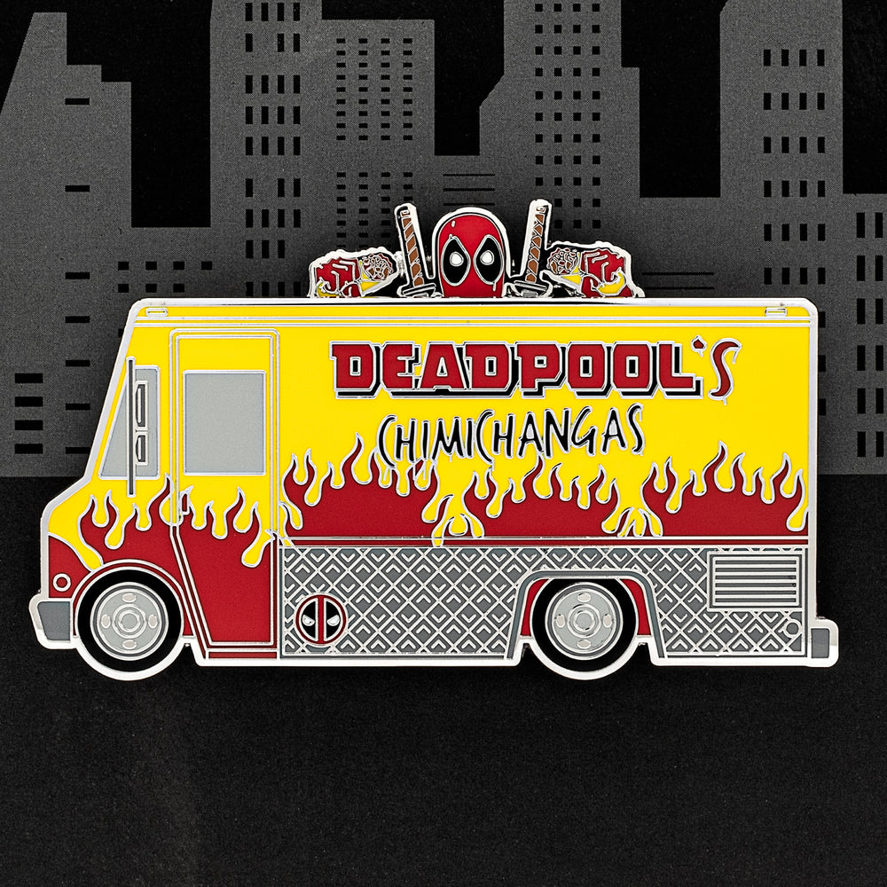 "Marvel Deadpools' Chimichangas Truck LE 1000 3"" Collector Box Enamel Pin-zoom"