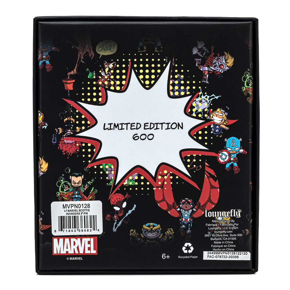 Marvel Skottie Young Collector Box Sliding & Glow Enamel Pin-zoom