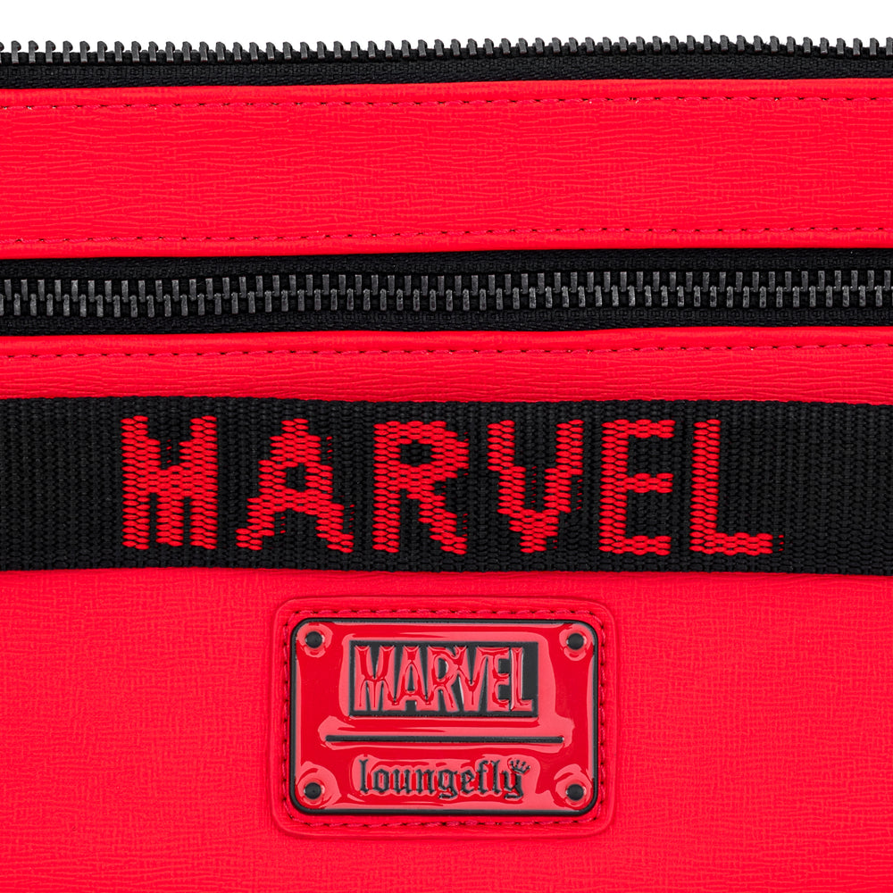 Loungefly X Marvel Red Brick Logo Waist/Sling Bag-zoom