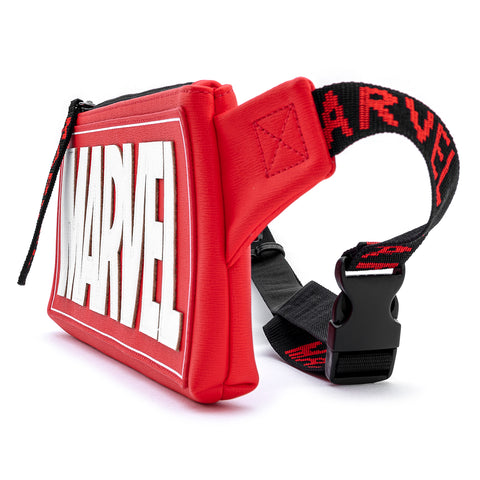 Loungefly X Marvel Red Brick Logo Waist/Sling Bag