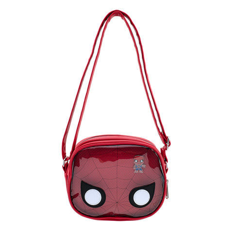 Pop by Loungefly X Marvel Spider-man Pin Collector Crossbody Bag