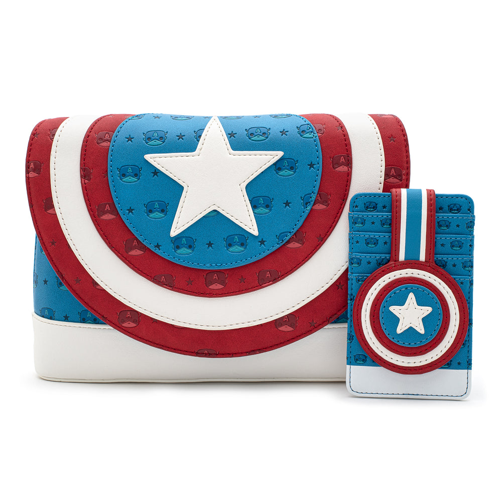 Pop! by Loungefly X Marvel Captain America Debossed Shield Cardholder-zoom