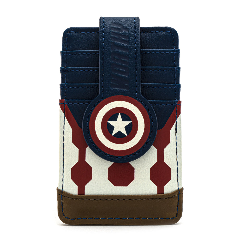 Loungefly X Marvel Captain America Worthy Card Holder-zoom