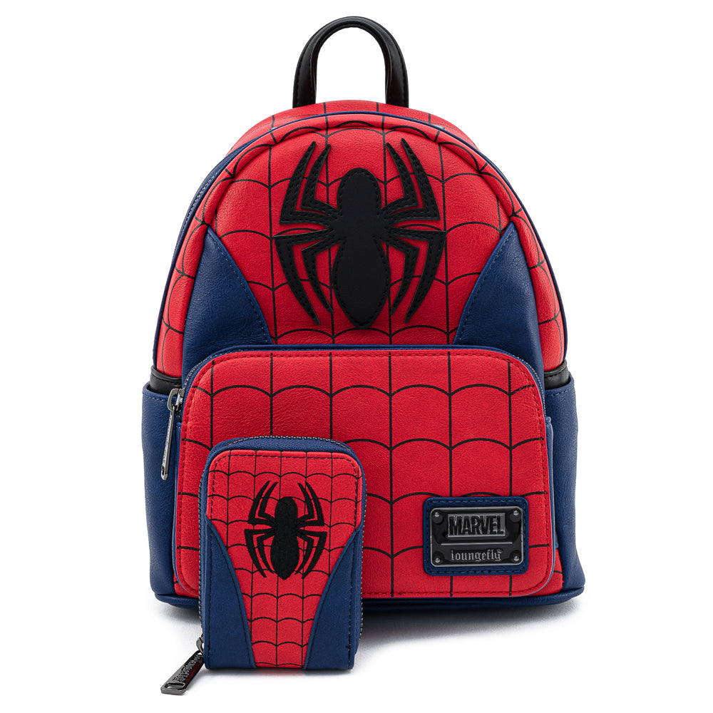 Loungefly X Marvel Spider-man Classic Cosplay Accordion Wallet-zoom