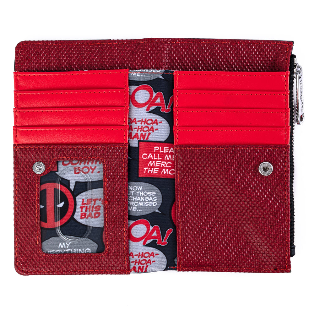 Marvel Deadpool Merc With A Mouth Flap Wallet-zoom