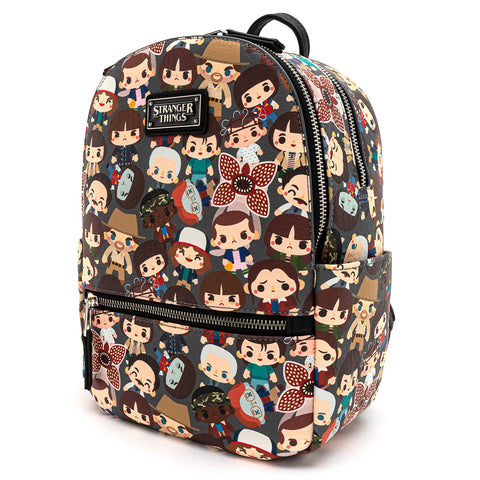 Loungefly X Stranger Things Chibi AOP Mini Backpack