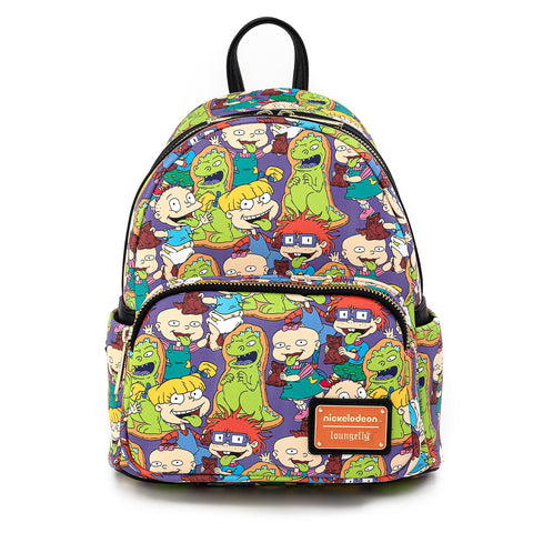 Loungefly X Nickelodeon Rugrats Reptar Bar AOP Mini Backpack