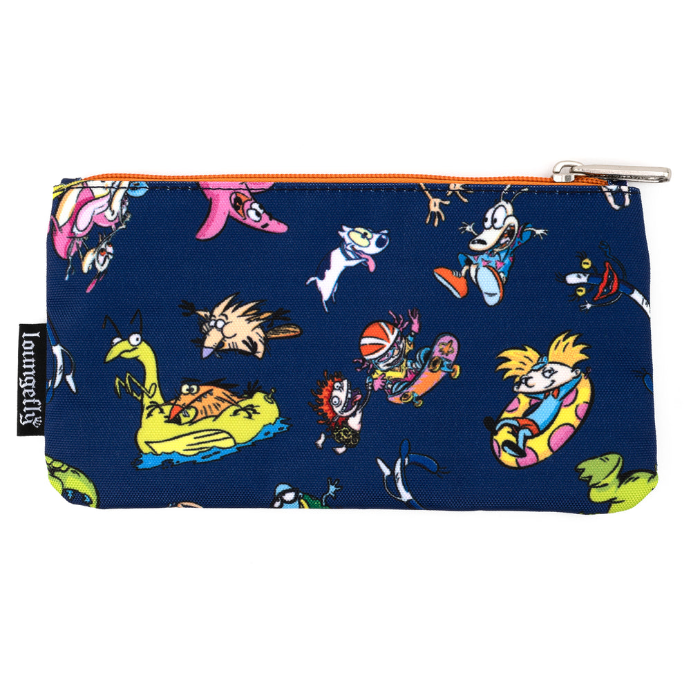 Nickelodeon Rewind Cartoons Nylon Pouch-zoom