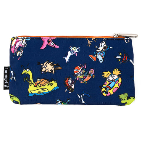 Loungefly X Nickelodeon Rewind Cartoons Nylon Pouch