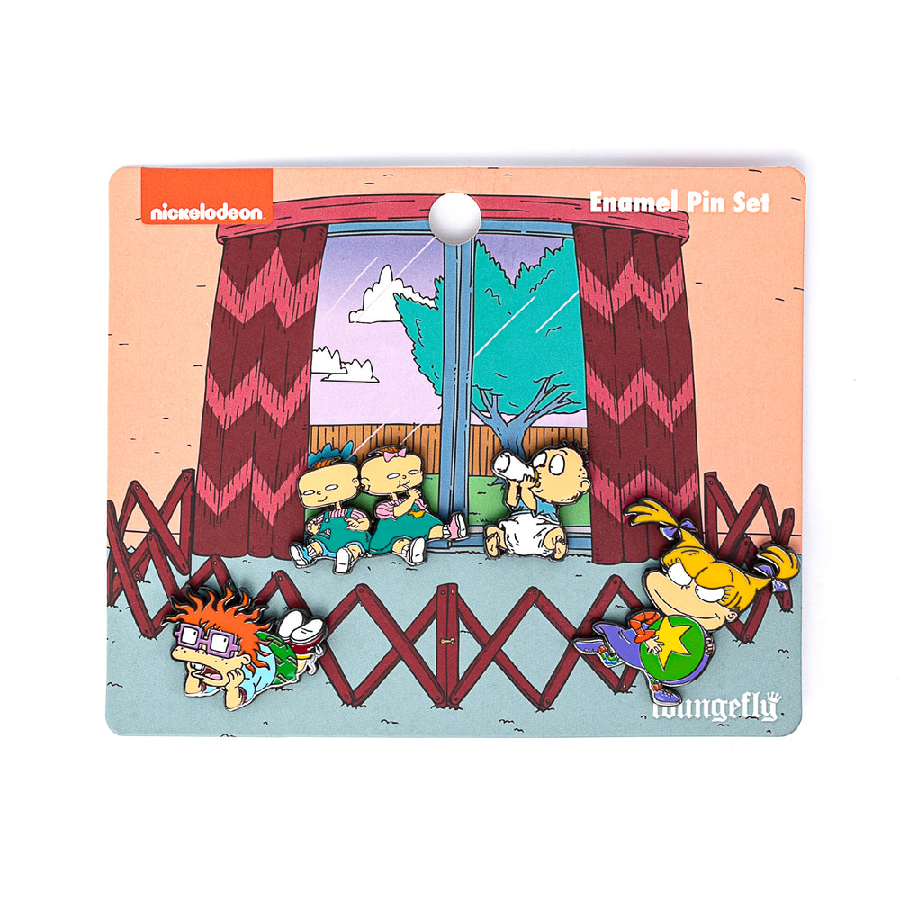 Nickelodeon Rugrats 4pc Enamel Pin Set-zoom