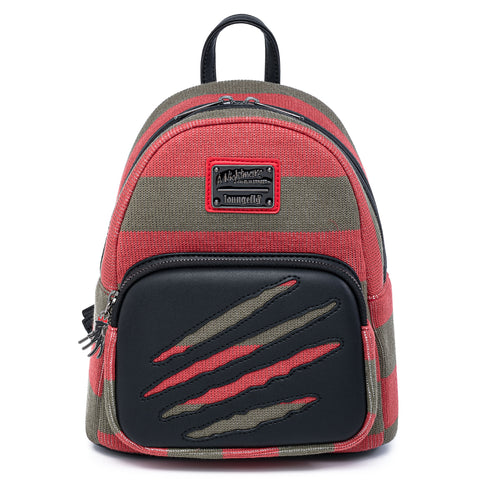 Loungefly X A Nightmare On Elm Street Freddy Sweater Mini Backpack