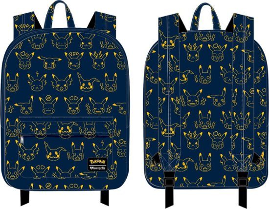 Loungefly X Pokemon Pikachu Expressions Nylon Backpack-zoom