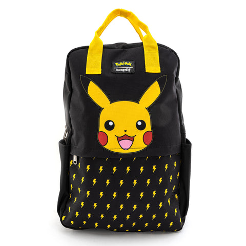 Loungefly X Pokemon Lightning Bolt Pikachu Nylon Square Backpack