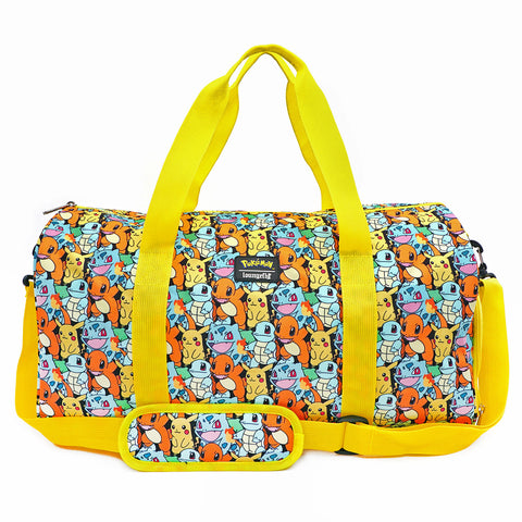 Loungefly X Pokemon Starters AOP Duffle Bag