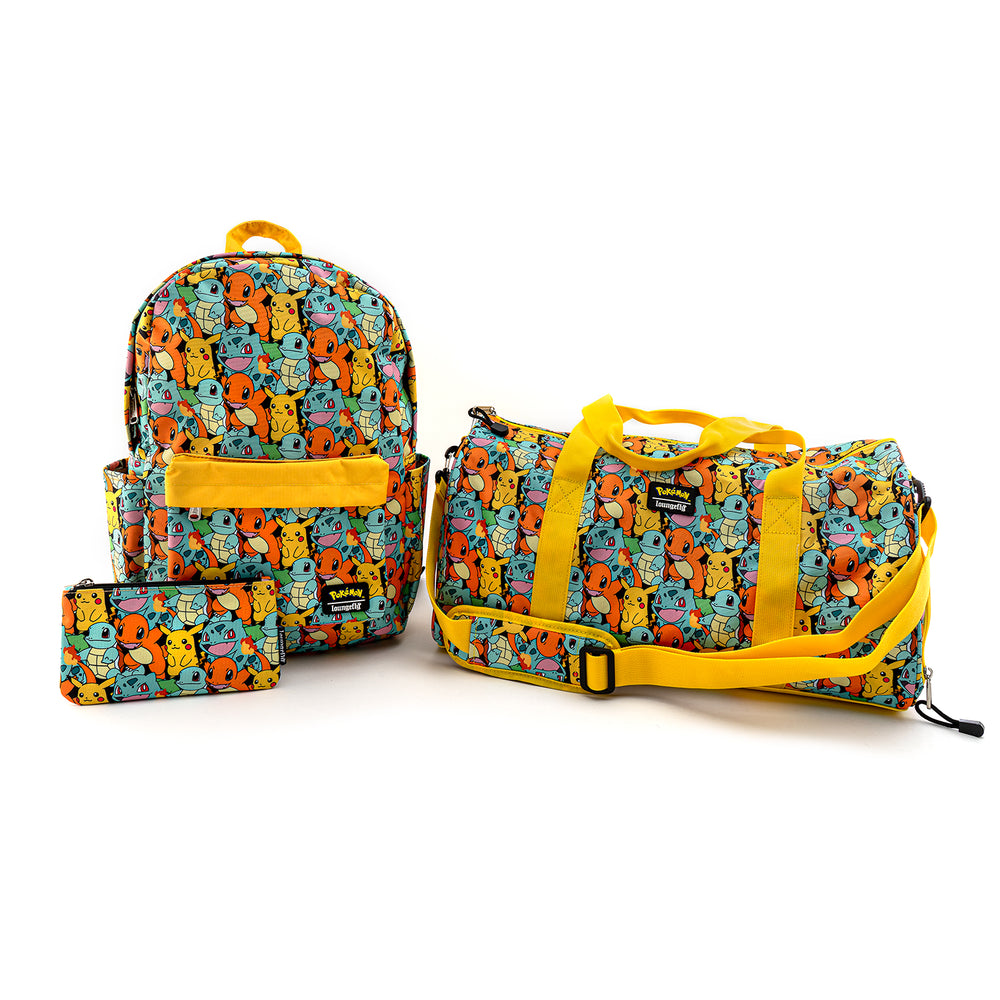 Loungefly X Pokemon Starters AOP Duffle Bag-zoom