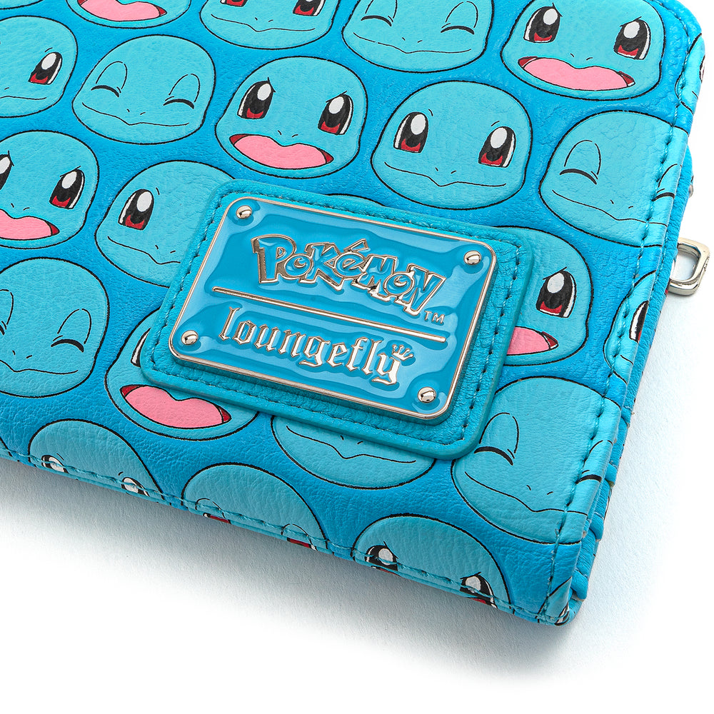 Loungefly X Pokemon Squirtle Faces AOP Flap Wallet-zoom