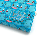 Loungefly X Pokemon Squirtle Faces AOP Flap Wallet