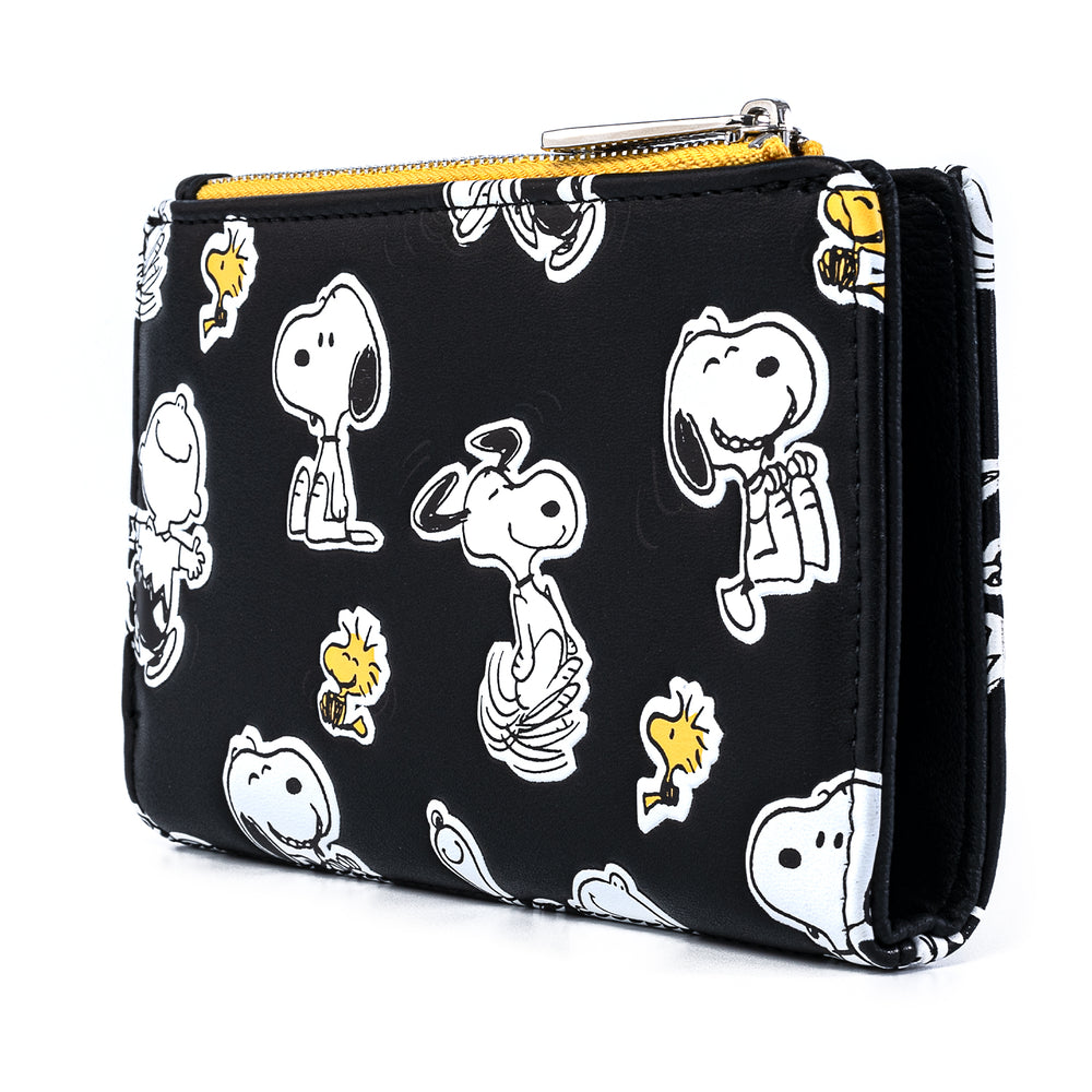 Loungefly X Peanuts Character Print AOP Flap Wallet-zoom