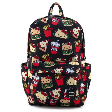 Hello Kitty Snacks AOP Nylon Backpack