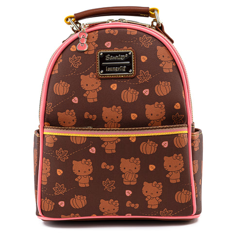 Hello Kitty Pumpkin Spice AOP Mini Convertible Backpack