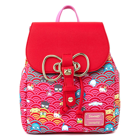 Sanrio 60th Anniversary Gold Bow AOP Mini Backpack