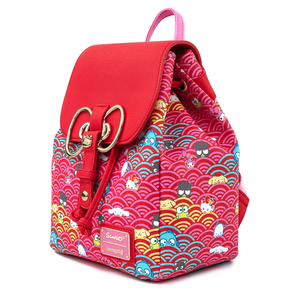 Sanrio 60th Anniversary Gold Bow AOP Mini Backpack-zoom