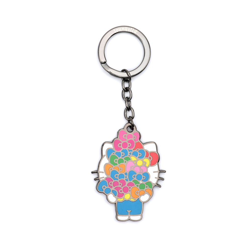 "Loungefly X Sanrio Hello Kitty Bows and Bows and Bows 2.5"" Hard Enamel Keychain-zoom"