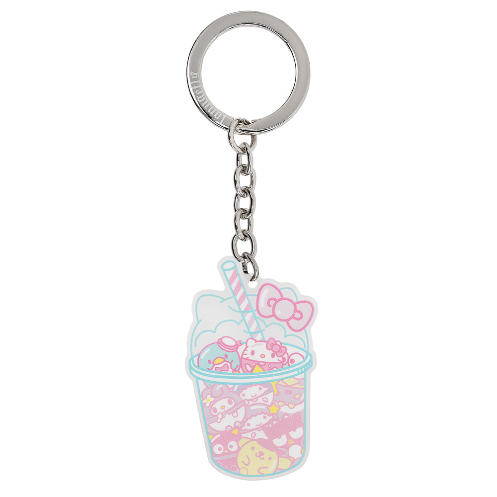 Hello Kitty Slush Drink Acrylic Keychain-zoom
