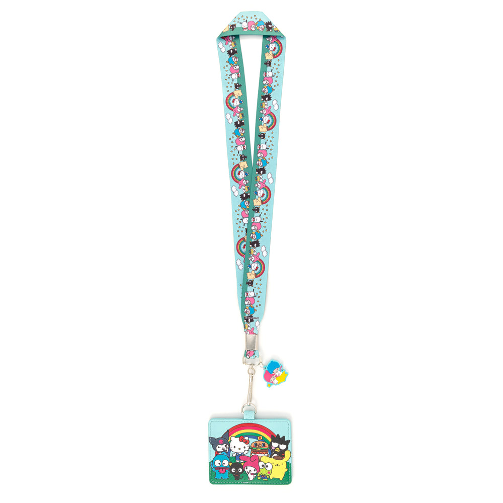 Loungefly X Sanrio Rainbow Group Lanyard with Cardholder-zoom
