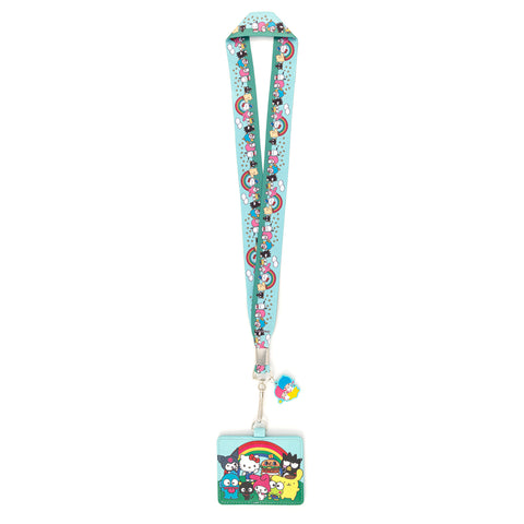 Loungefly X Sanrio Rainbow Group Lanyard with Cardholder