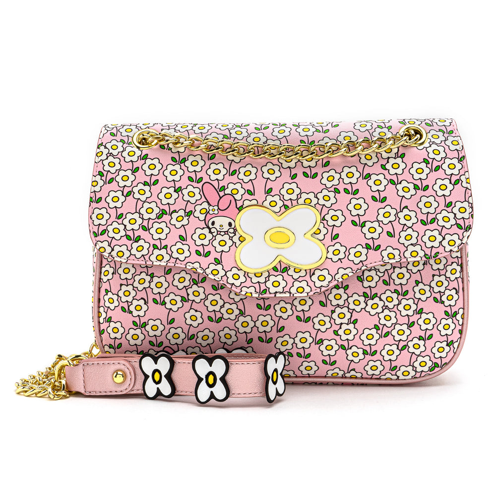 Loungefly X Sanrio My Melody Flower Field Crossbody Bag-zoom