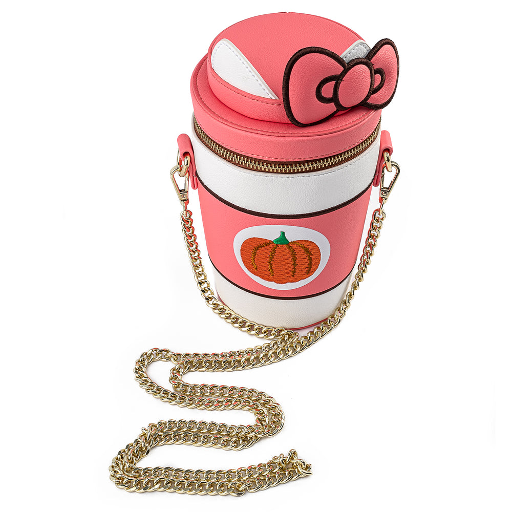 Hello Kitty Pumpkin Spice Cup Crossbody Bag-zoom