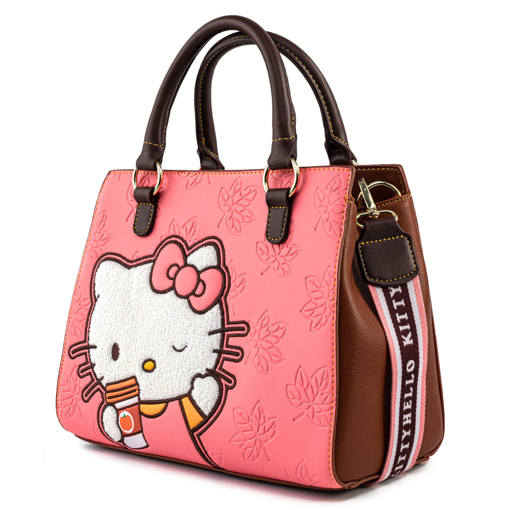 Hello Kitty Pumpkin Spice Latte Wave Crossbody Bag-zoom