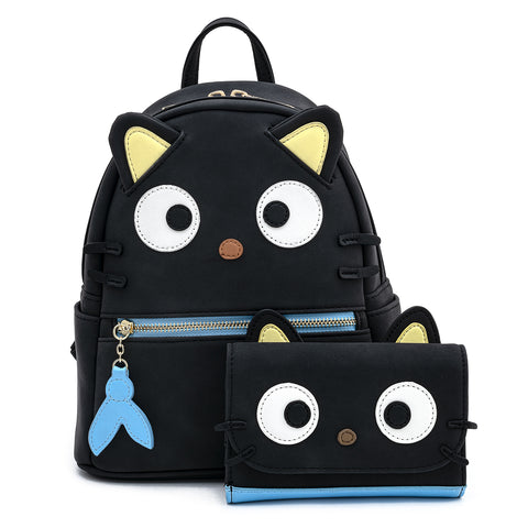 Hello Kitty Chococat Faux Suede Cosplay Tri-Fold Wallet