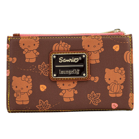 Hello Kitty Pumpkin Spice AOP Flap Wallet