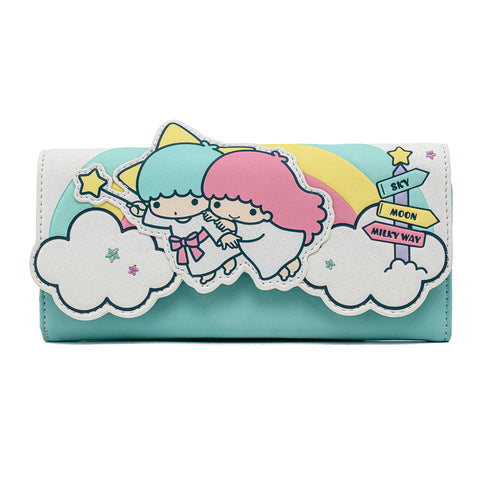 Sanrio Little Twin Stars Rainbow Cloud Tri-Fold Wallet