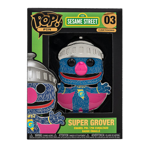 Sesame Street Super Grover Funko Pop! Pin